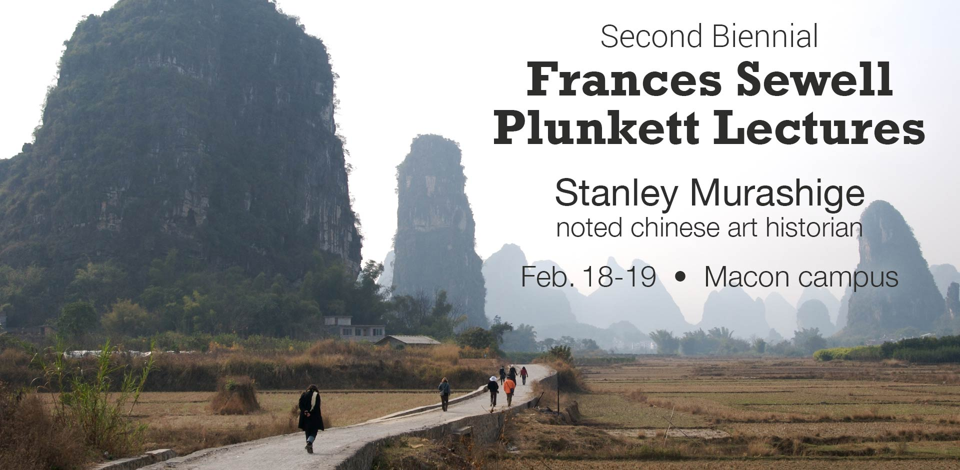 Second Biennial Frances Sewell Plunkett Lectures to Feature Noted Chinese Art Historian Stanley Murashige