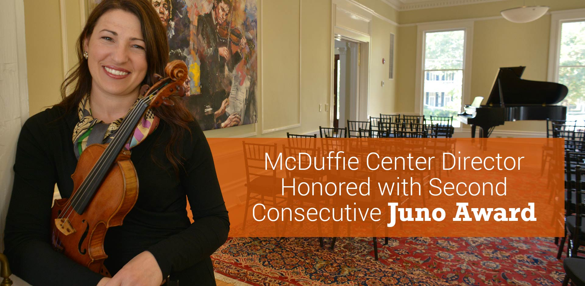 McDuffie Center Director Honored with Second Consecutive Juno Award