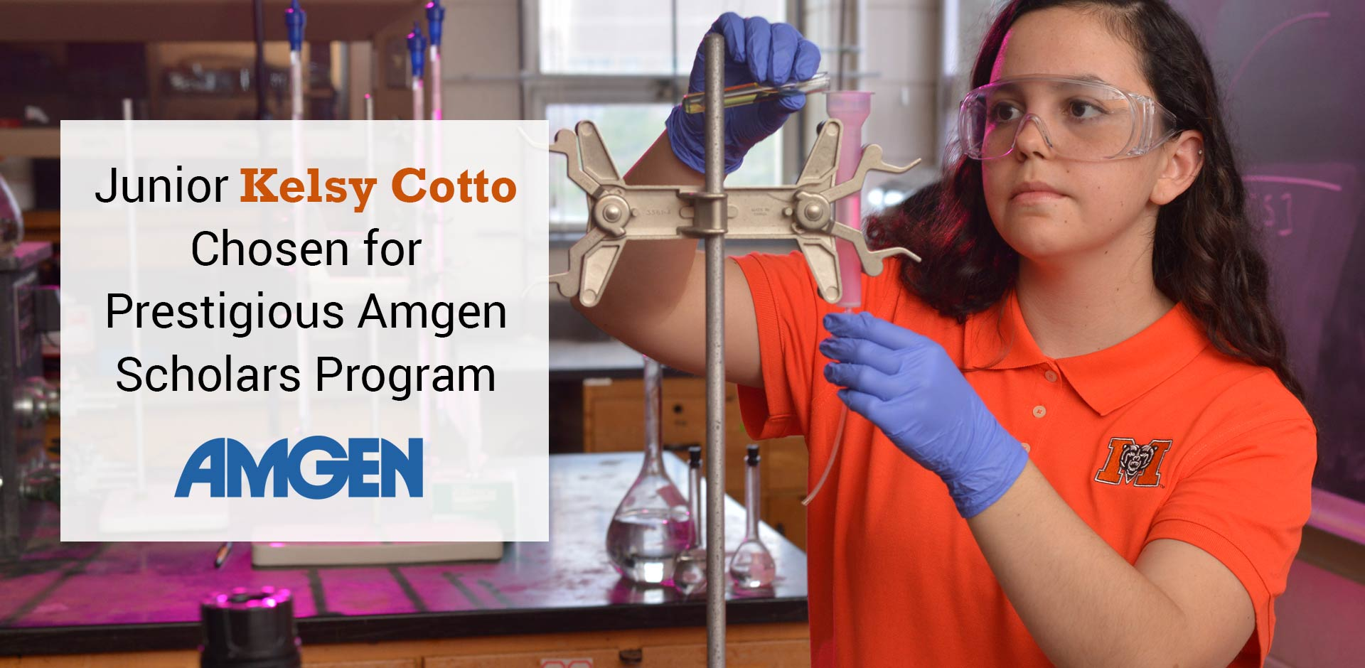 Junior Chosen for Prestigious Amgen Scholars Program