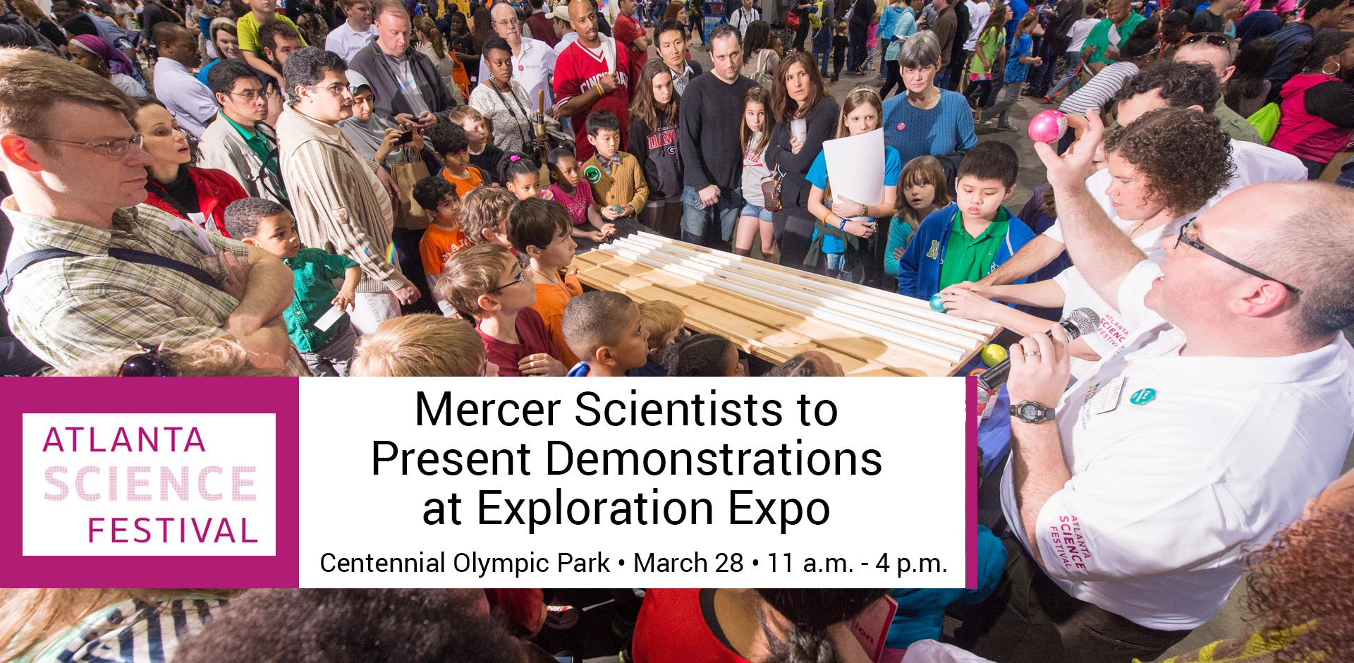 Mercer Scientists to Present Demonstrations at Exploration Expo
