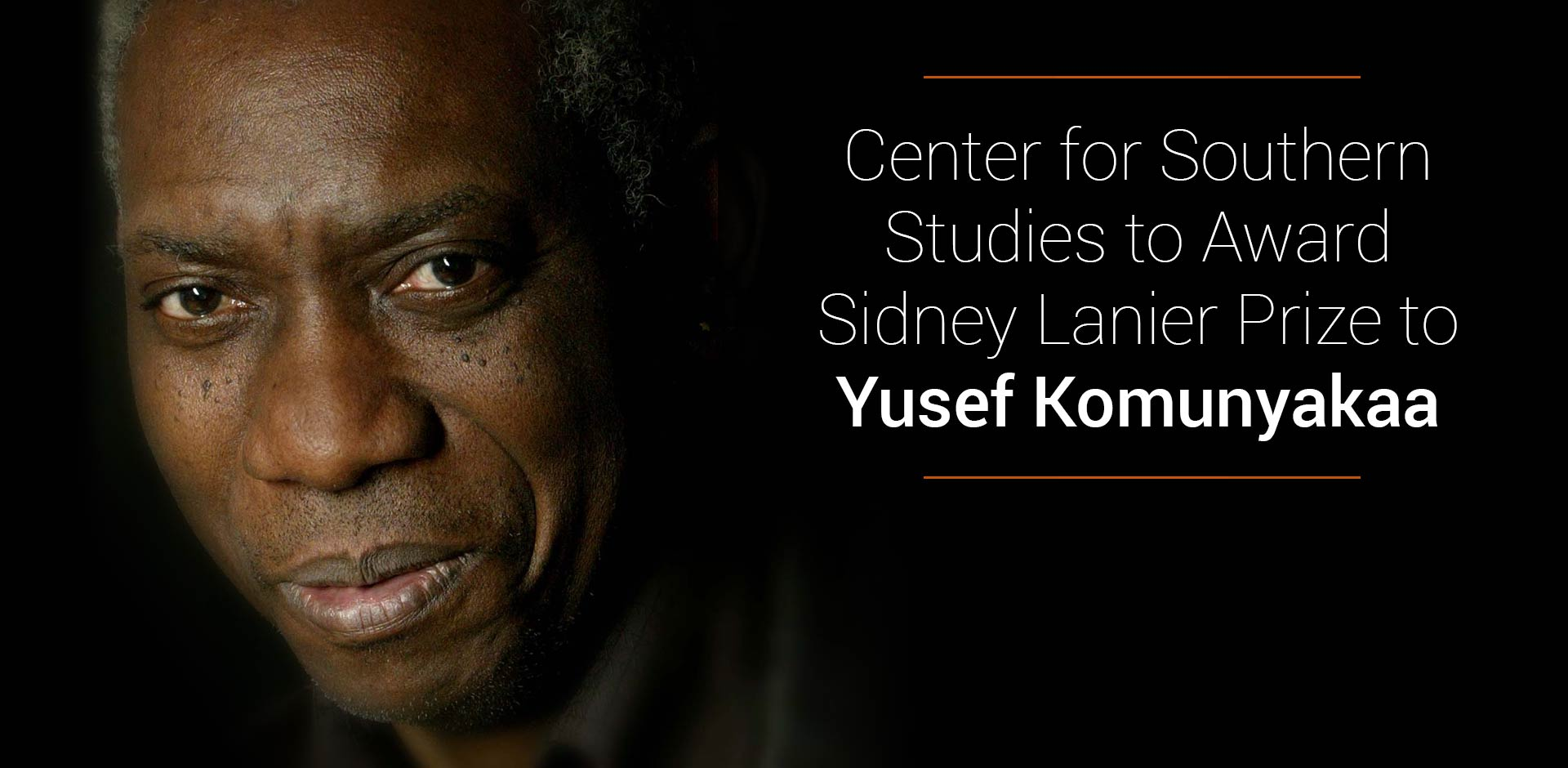 Center for Southern Studies to Award Sidney Lanier Prize to Komunyakaa on April 25