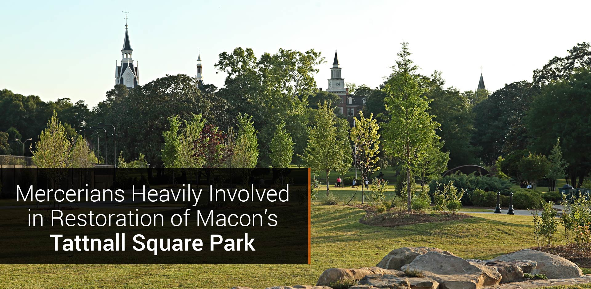 Mercerians Heavily Involved in Community Group's Restoration of Nearby Tattnall Square Park