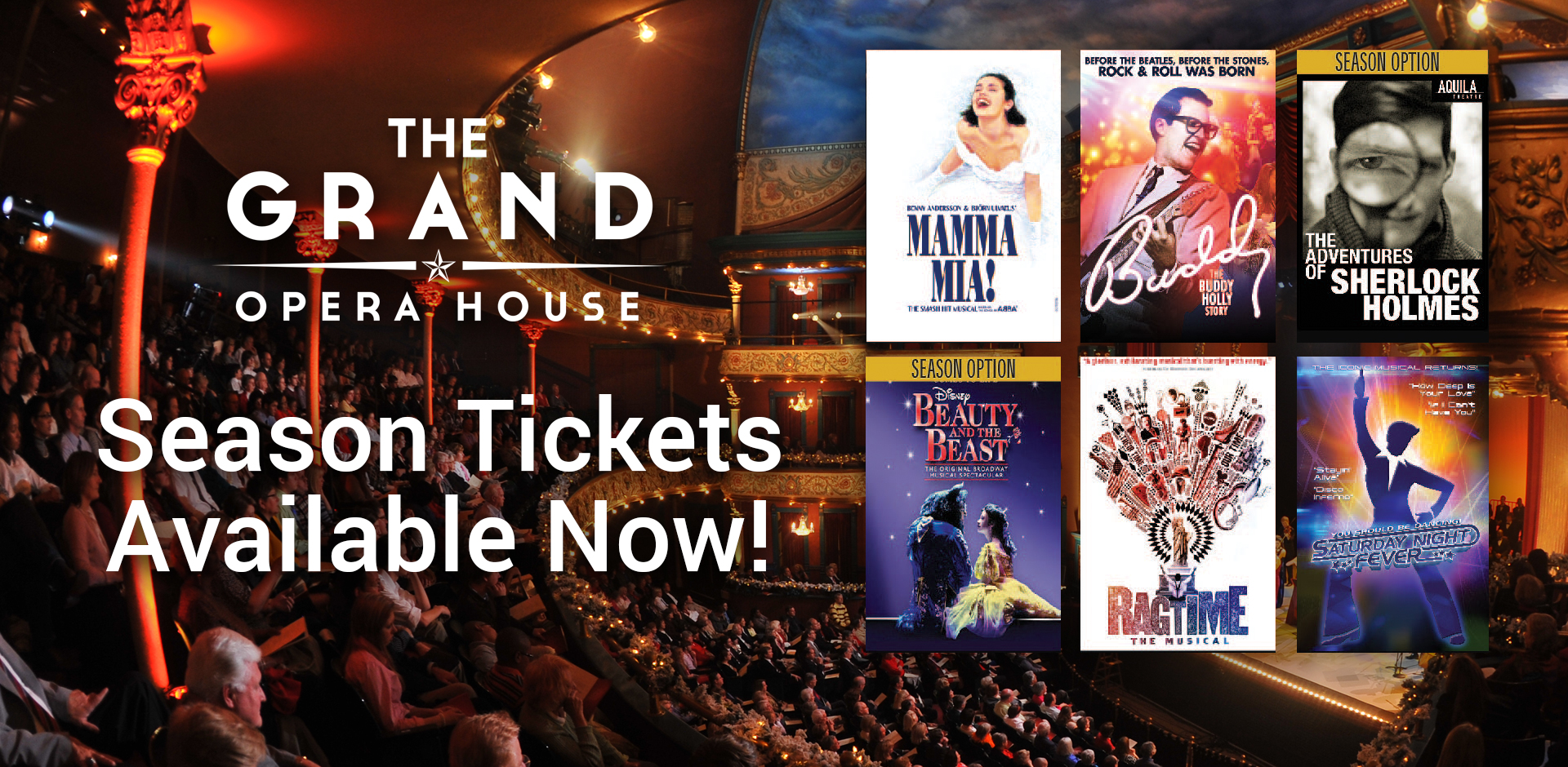Grand Opera House Season Tickets Now On Sale!