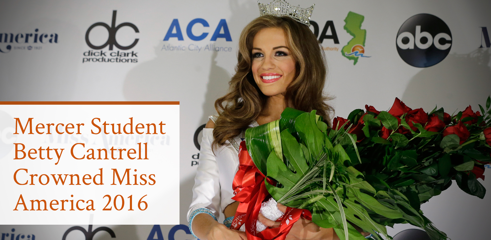 Mercer Student Betty Cantrell Crowned Miss America 2016